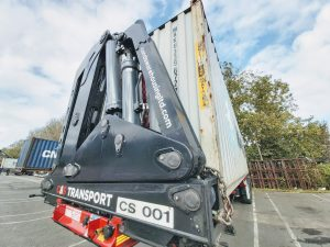 Container Lift Delivery Hiab Felixstowe
